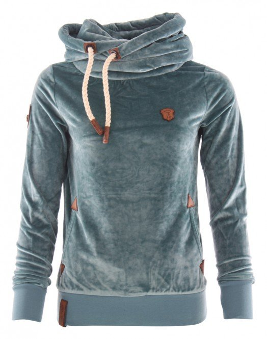NAKETANO DARTH MACK III Hoodie 2018 dusty blue - M