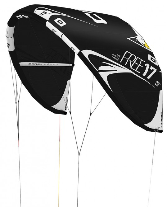 CORE FREE Test-Kite black/black - 7.0