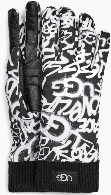 UGG GRAFFITI ALL WEATHER Handschuh 2020 graffiti ugg black/white - L/XL
