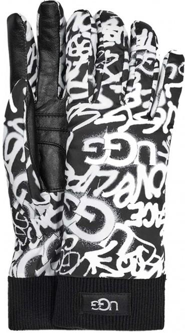 UGG GRAFFITI ALL WEATHER Handschuh 2020 graffiti ugg black/white - L/XL