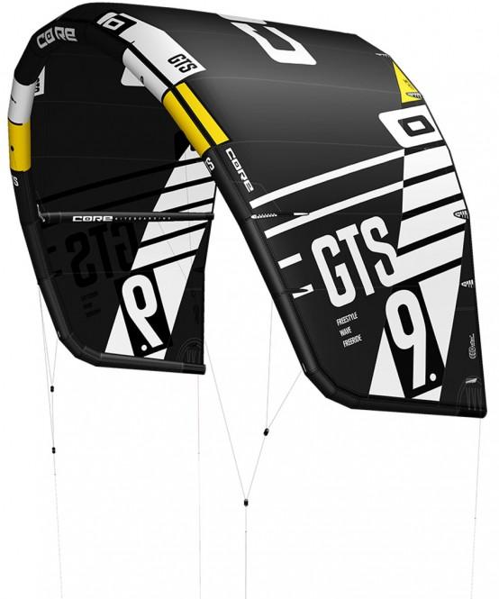 CORE GTS 5 Test-Kite black/black - 7.0