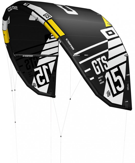 CORE GTS 5 LW Test-Kite black/black - 17.0