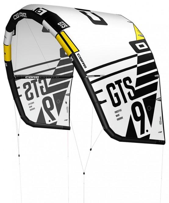 CORE GTS 5 Test-Kite white/black - 10.0