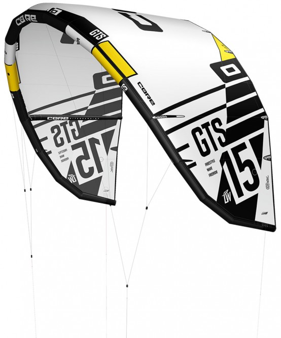 CORE GTS 5 LW Test-Kite white/black - 17.0