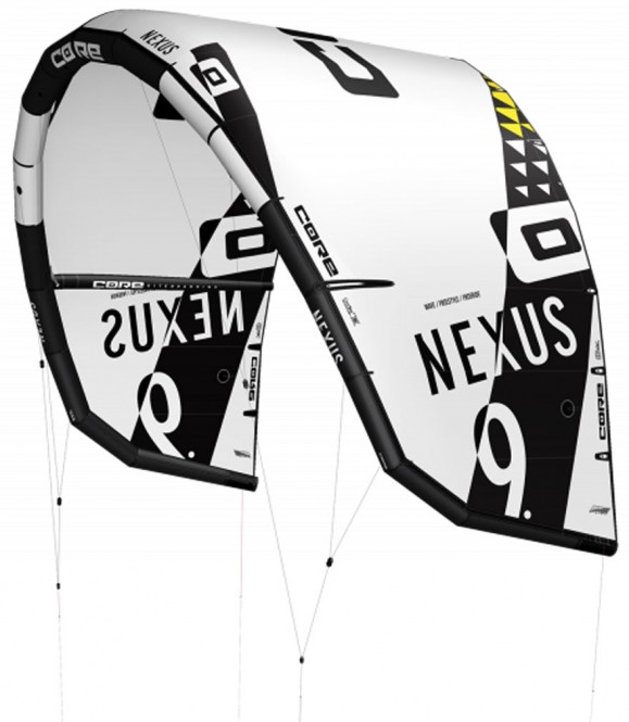 CORE NEXUS Test-Kite white/black - 5.0