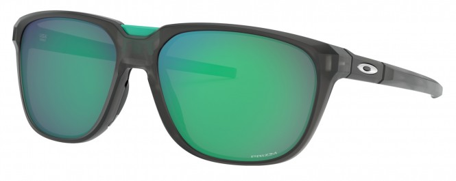 OAKLEY ANORAK Sonnenbrille matte grey smoke/prizm jade