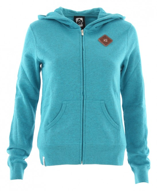K2 PATCH Zip Hoodie turquoise heather - S