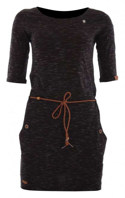 RAGWEAR TANYA SLUB Kleid 2021 black - L