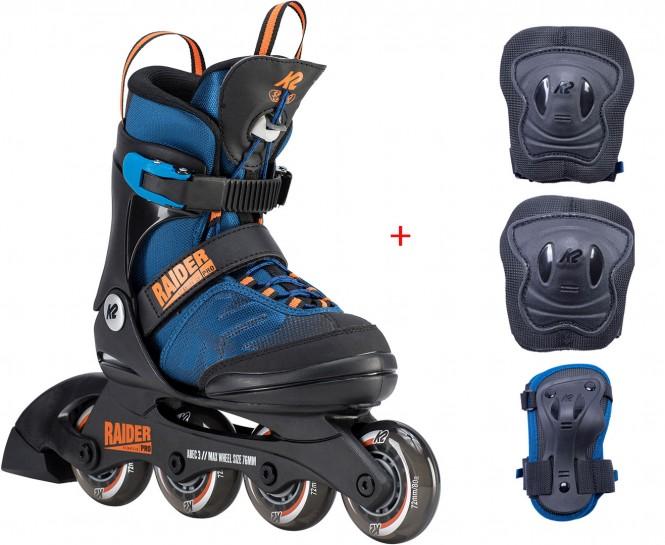 K2 RAIDER PRO Inline Skate 2020 35-40 inkl. RAIDER PRO Schonerset - XS