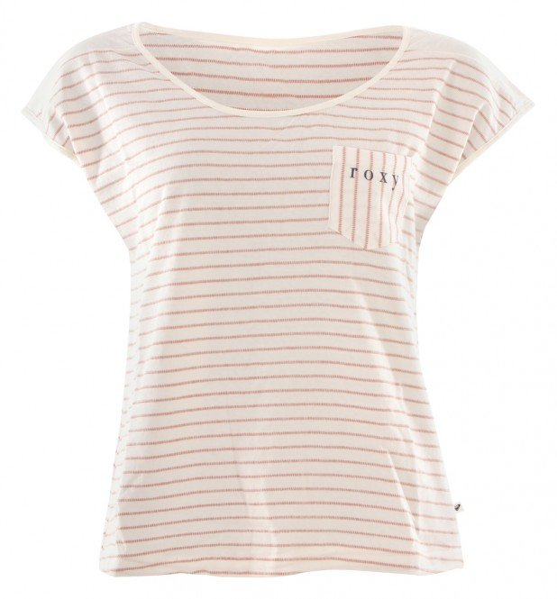 ROXY MIAMI VIBES T-Shirt 2020 cafe creme stan stripe - XS