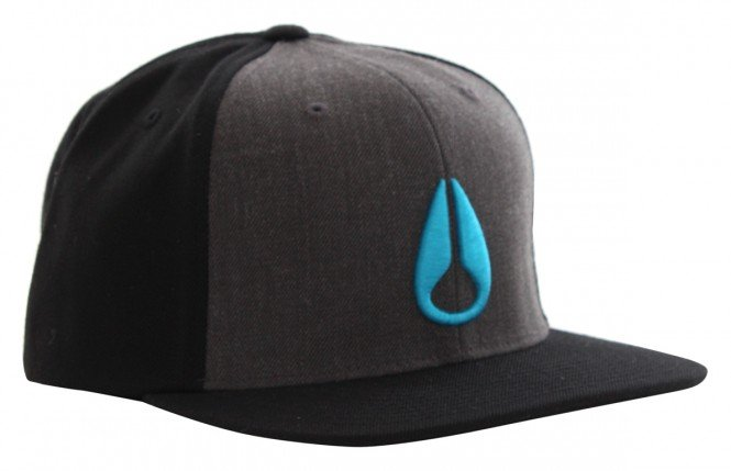 NIXON SIMON Snapback Cap 2014 charcoal/black