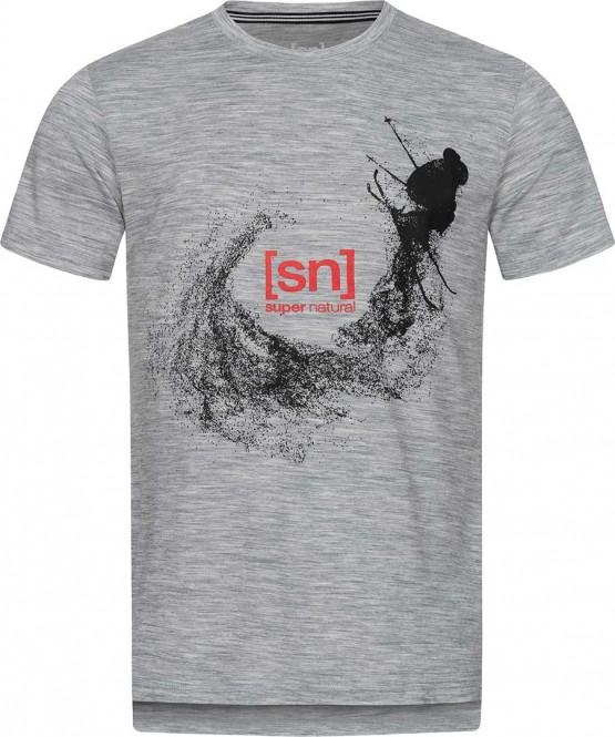 SUPER.NATURAL FREESTYLE T-Shirt 2021 ash melange/jet black freestyle - XXL