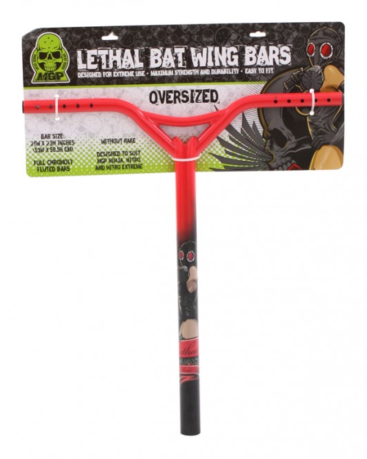 MADD STRAIGHT LETHAL OVERSIZE Bat Wing red