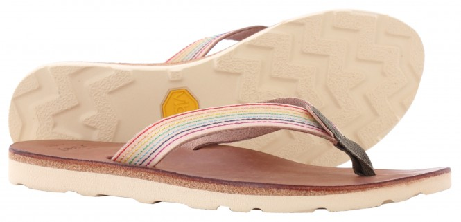 REEF THE VOYAGE Slap dark brown/nude - 36