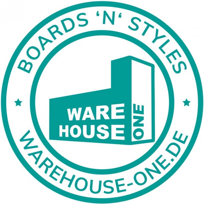 WH1 BOARDS N STYLE Die Cut Aufkleber turquoise - 20cm