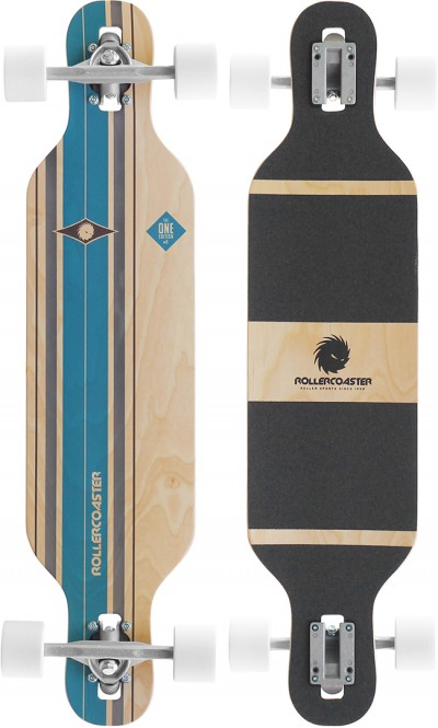 ROLLERCOASTER STRIPES THE ONE EDITION DT Longboard blue