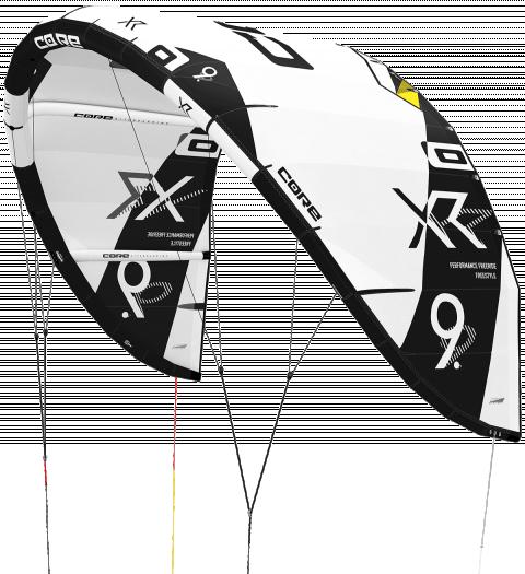 CORE XR5 Test-Kite white/black - 11.0