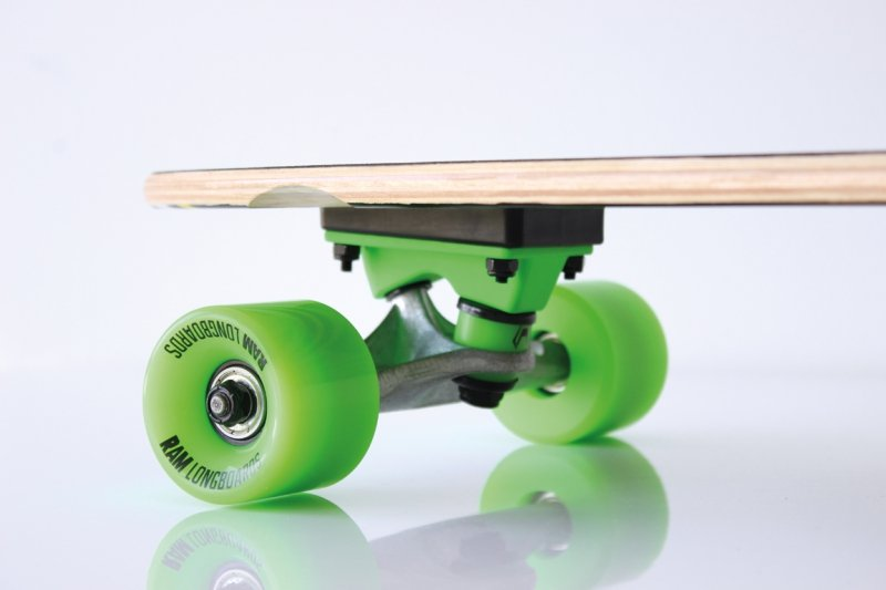 STRIPES Longboard 2014 black/green